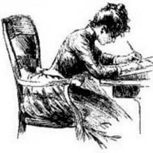 19th century writing woman